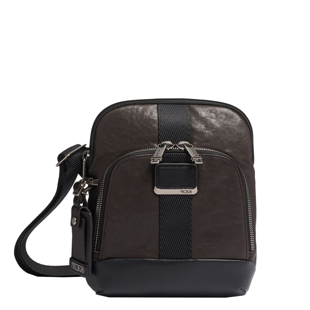 Tumi Alpha Bravo Leather Barksdale Crossbody dark brown Herentas <br/></noscript><img class=