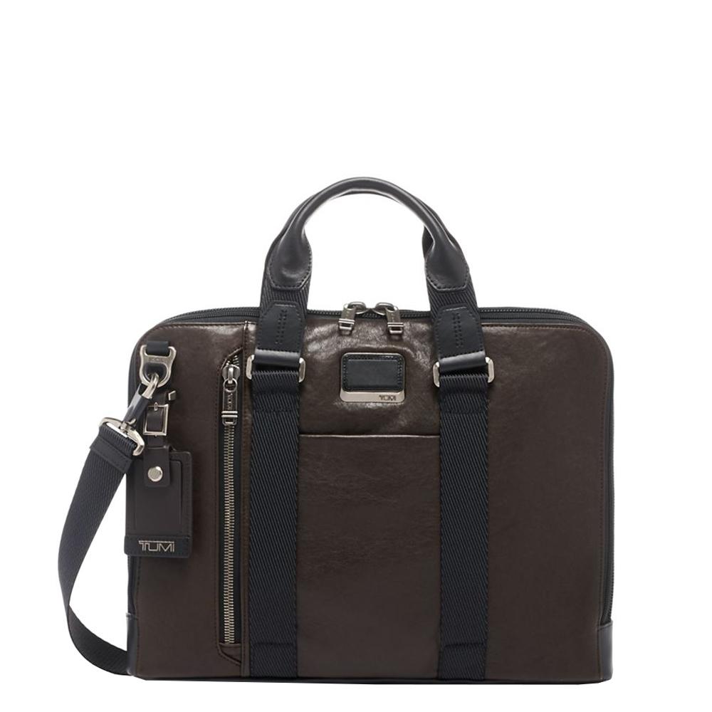 Tumi Alpha Bravo Leather Aviano Slim Brief dark brown <br/>€ 485.00 <br/> <a href='https://tc.tradetracker.net/?c=15082&m=779702&a=107398&u=https%3A%2F%2Fwww.travelbags.nl%2Ftumi-alpha-bravo-leather-aviano-slim-brief-dark-brown.html' target='_blank'>Bestellen</a>