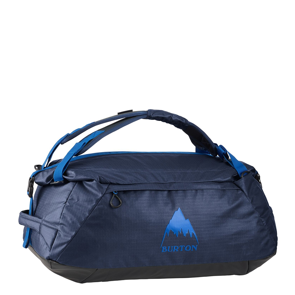 Burton Multipath Duffel 60 dress blue coated Weekendtas <br/>€ 83.95 <br/> <a href='https://tc.tradetracker.net/?c=15082&m=779702&a=107398&u=http%3A%2F%2Fwww.travelbags.nl%3A80%2Fburton-multipath-duffel-60-dress-blue-coated.html' target='_blank'>Bestellen</a>