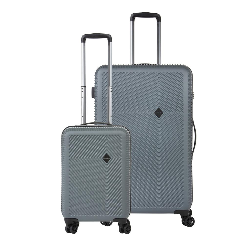 CarryOn Connect TSA Kofferset Trolleyset 2-delig OKOBAN en Orginaser Donker grijs