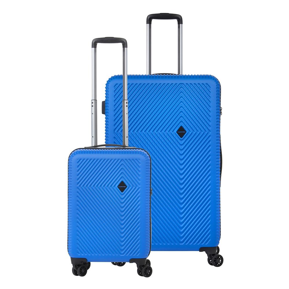 CarryOn Connect TSA Kofferset Trolleyset 2-delig OKOBAN en Orginaser Blauw