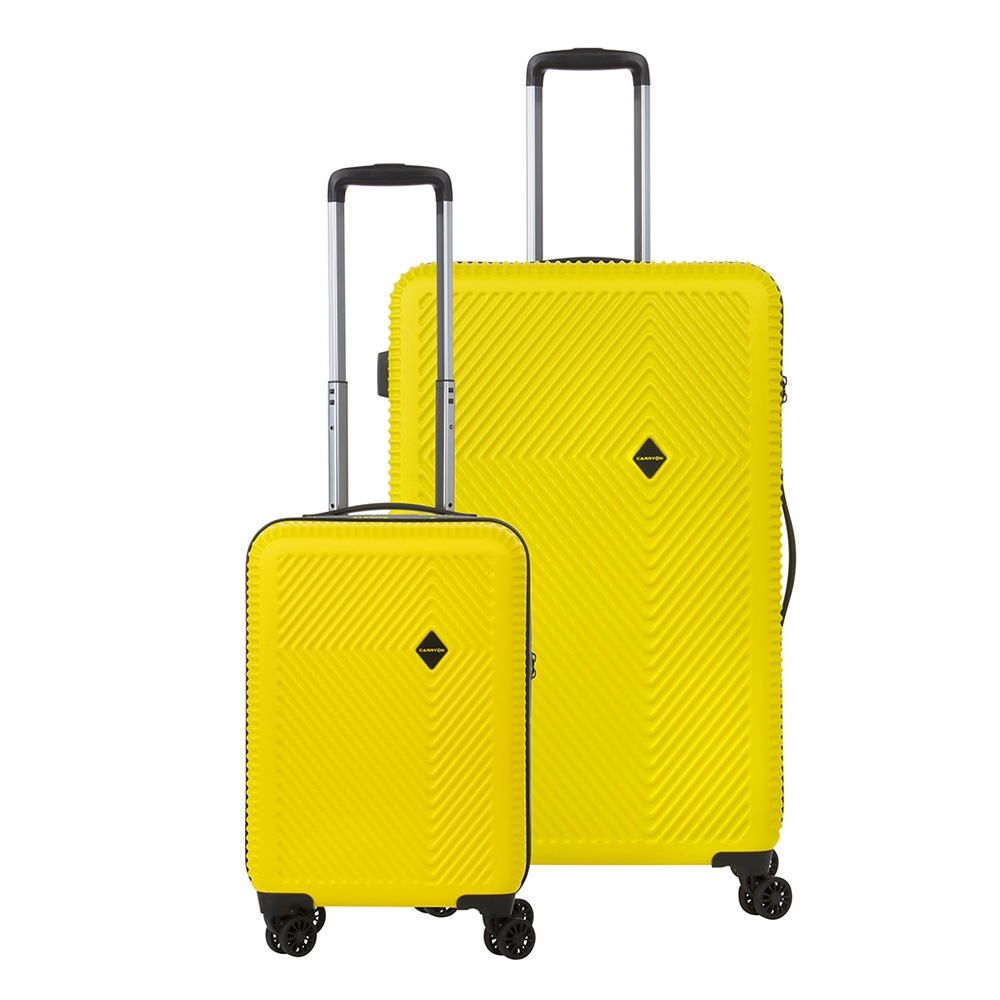 CarryOn Connect TSA Kofferset Trolleyset 2-delig OKOBAN en Orginaser Geel