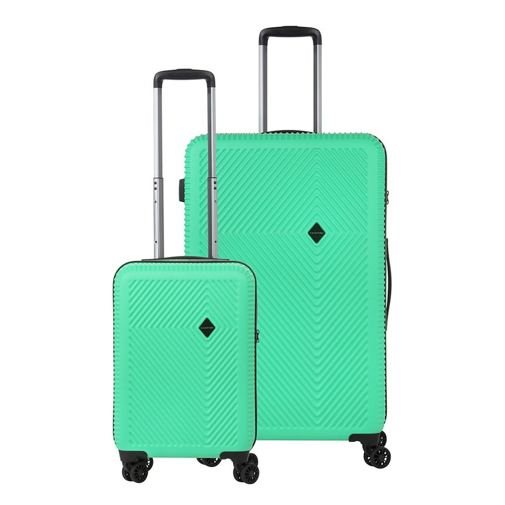 CarryOn Connect TSA Kofferset Trolleyset 2-delig OKOBAN en Orginaser Groen