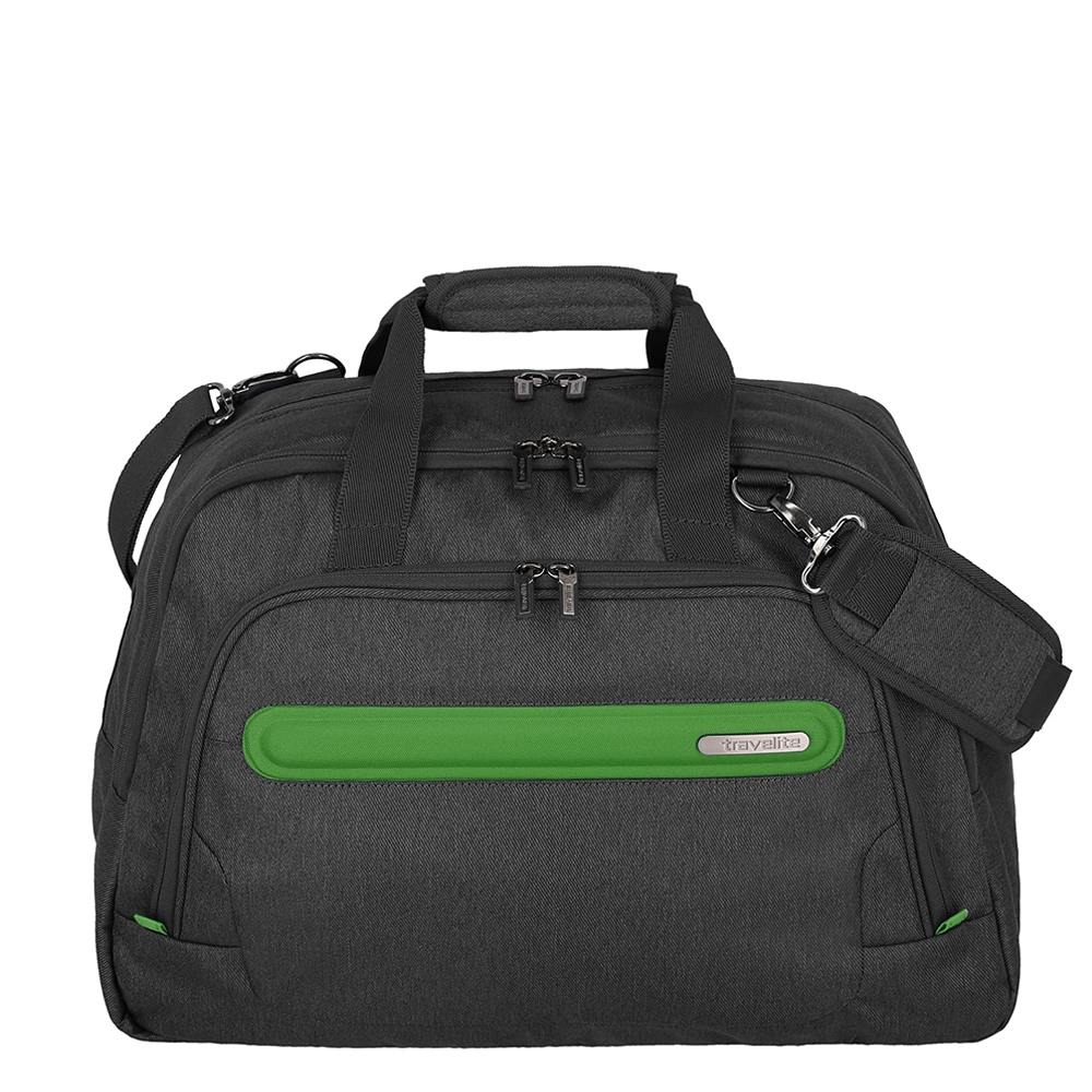Travelite Madeira Weekender anthracite/green Weekendtas <br/>€ 44.95 <br/> <a href='https://tc.tradetracker.net/?c=15082&m=779702&a=107398&u=http%3A%2F%2Fwww.travelbags.nl%3A80%2Ftravelite-madeira-weekender-anthracite-green.html' target='_blank'>Bestellen</a>