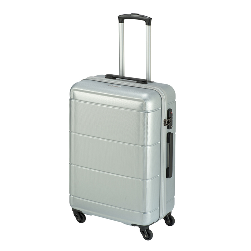 Princess Traveller Macau 4 Wiel Trolley M silver Harde Koffer