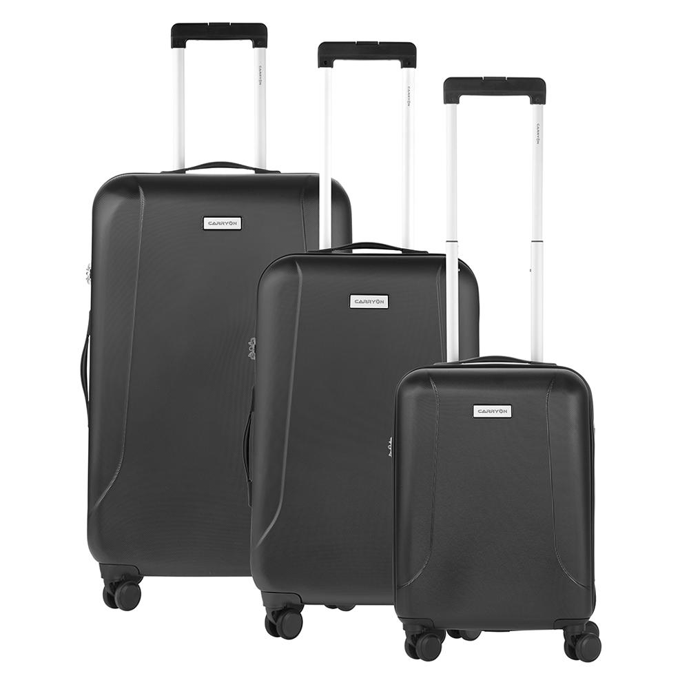 CarryOn Skyhopper Trolleyset 3pcs TSA black Harde Koffer
