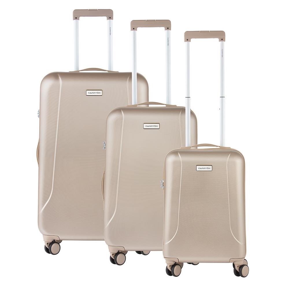 CarryOn Skyhopper Trolleyset 3pcs TSA champagne Harde Koffer