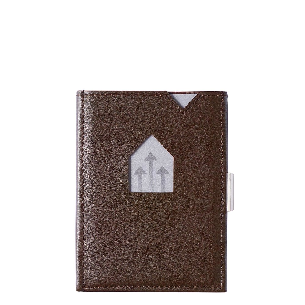 Exentri Leather Wallet RFID brown Dames portemonnee