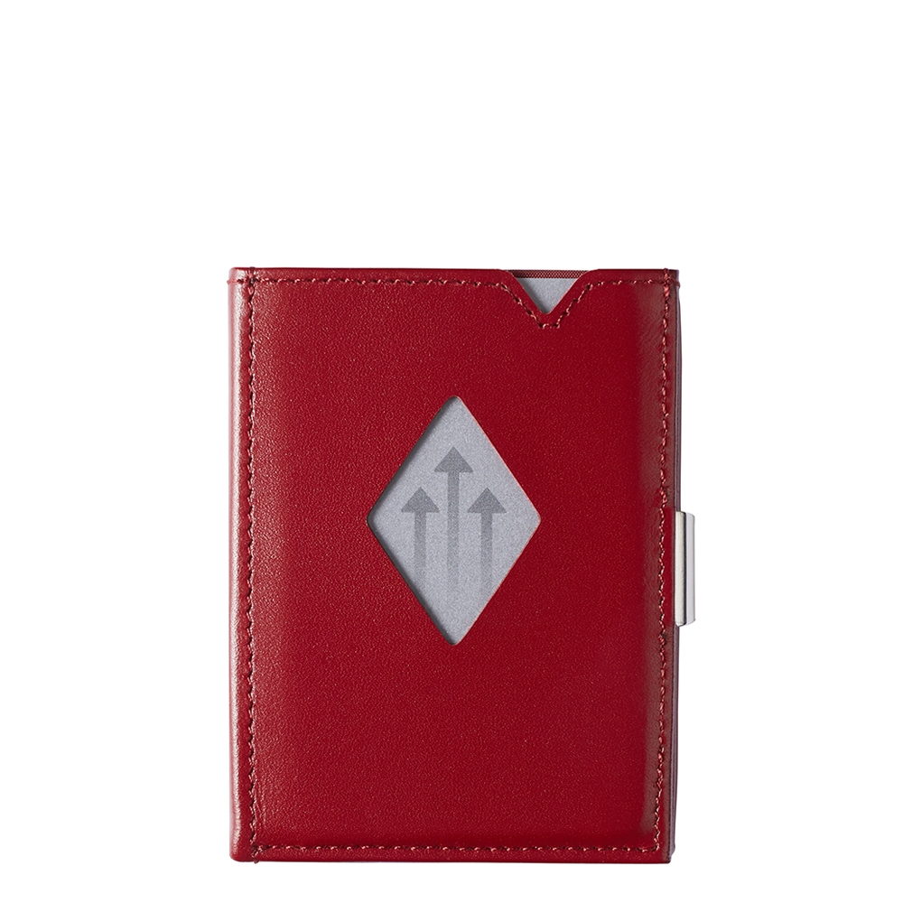 Exentri Leather Wallet RFID red Dames portemonnee