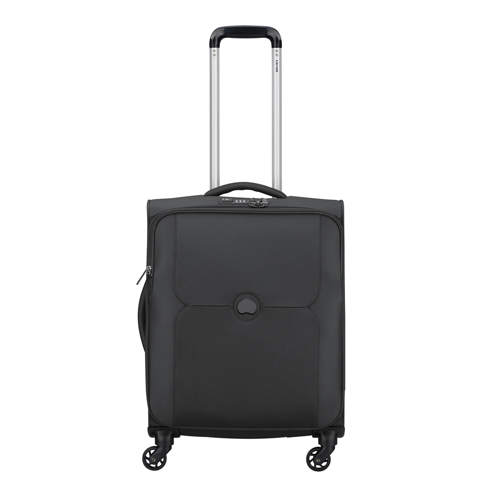 Delsey Mercure 4 Wheel Slim Cabin Trolley black Zachte koffer