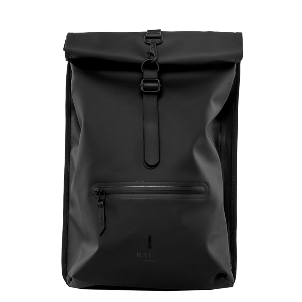Rains Original Roll Top Backpack black backpack