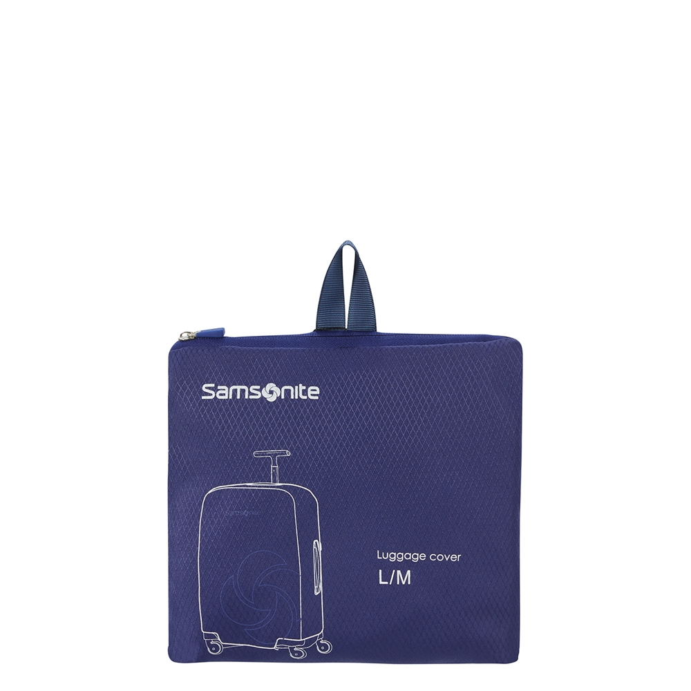 Samsonite Accessoires Foldable Luggage Cover L/M midnight blue Kofferhoes