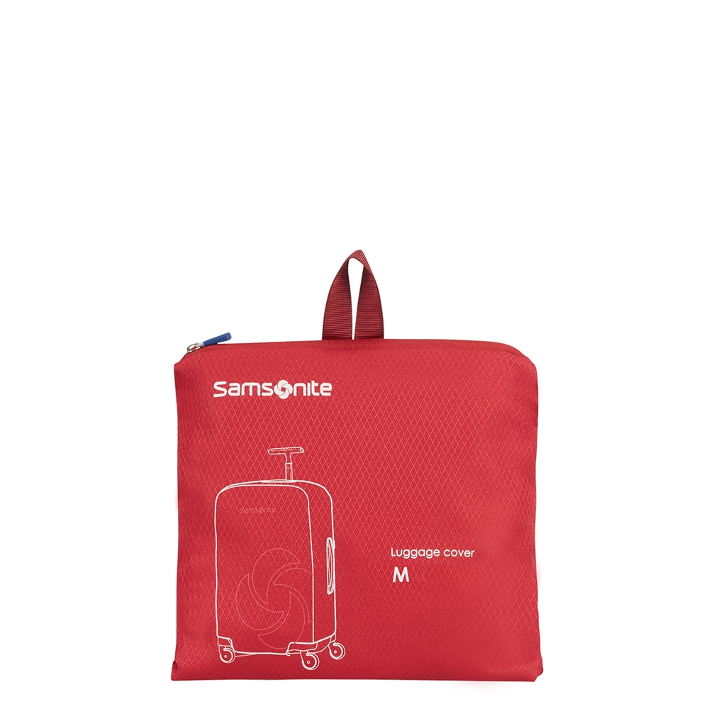 Samsonite Accessoires Foldable Luggage Cover M red Kofferhoes
