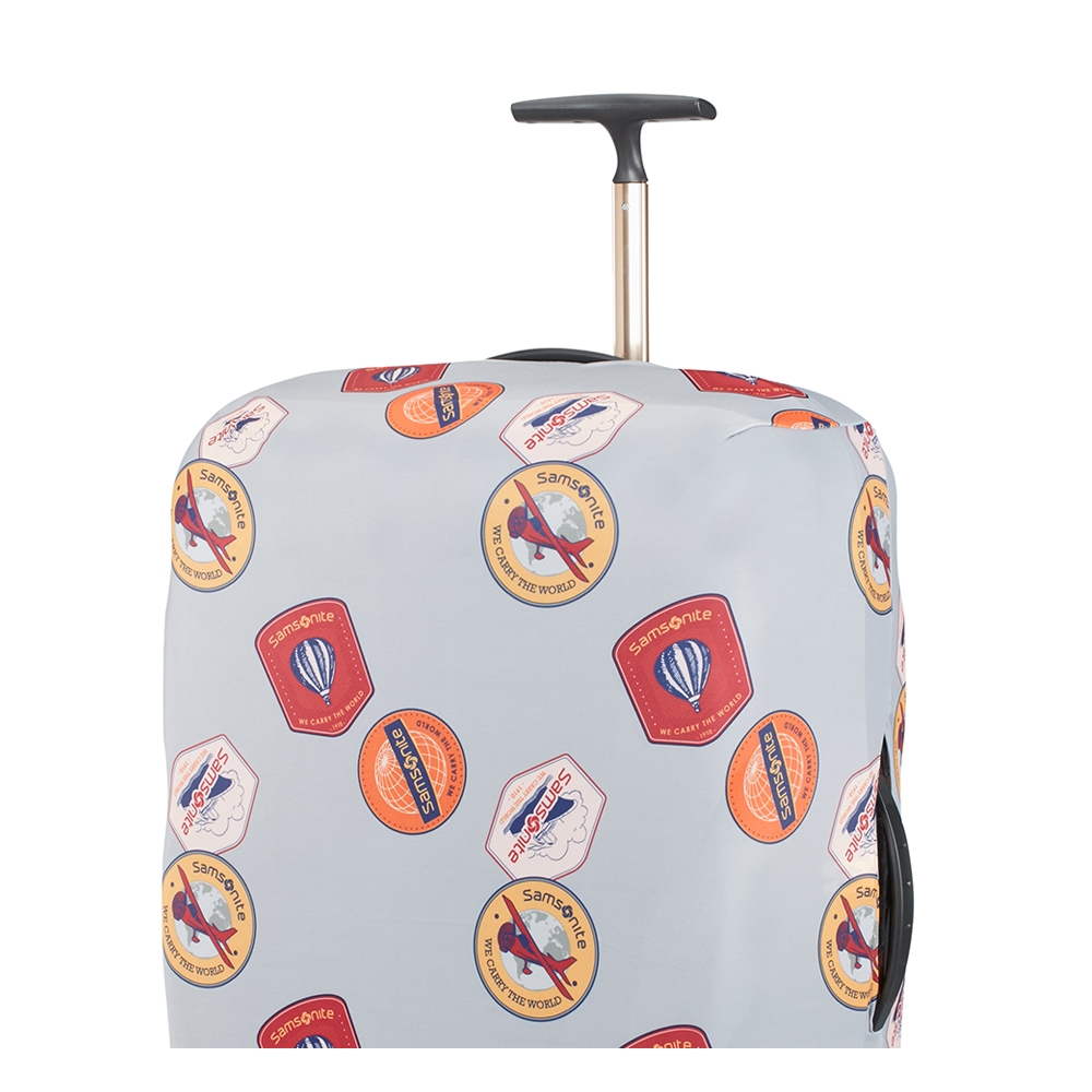 Samsonite Accessoires Lycra Luggage Cover M heritage patches Kofferhoes