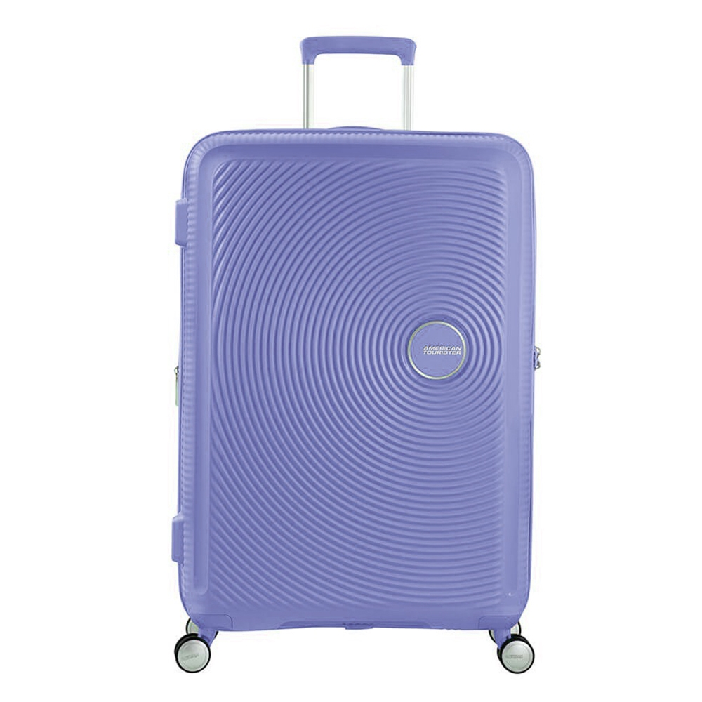 American Tourister Soundbox Spinner 77 Expandable denim blue Harde Koffer
