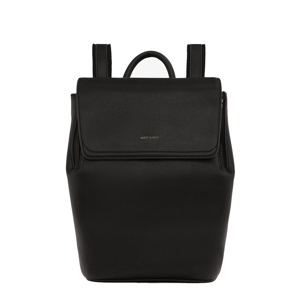 Matt & Nat Vintage Fabi Mini Backpack black Damestas