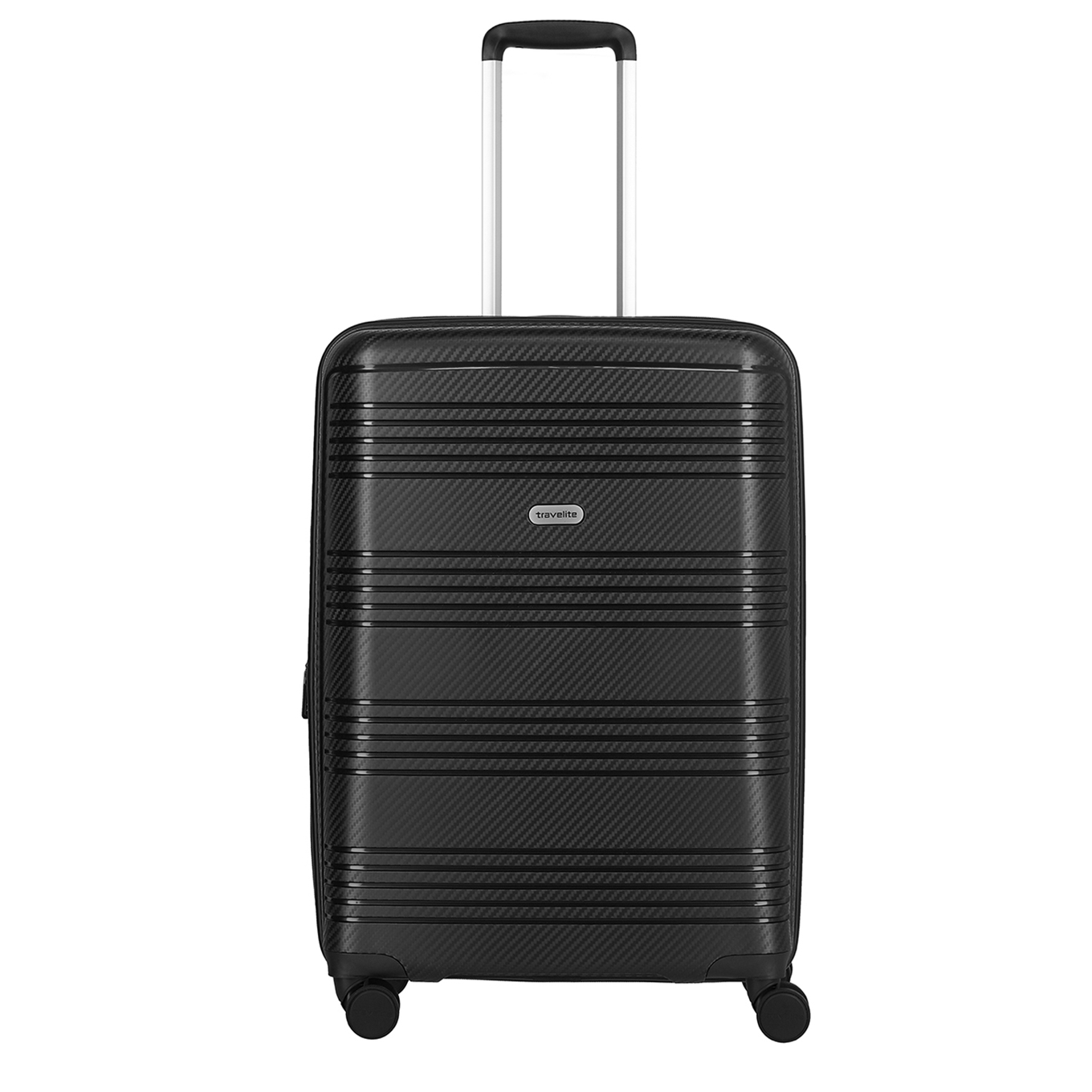 Travelite Zenit 4 Wiel Trolley M Expandable black Harde Koffer <br/></noscript><img class=