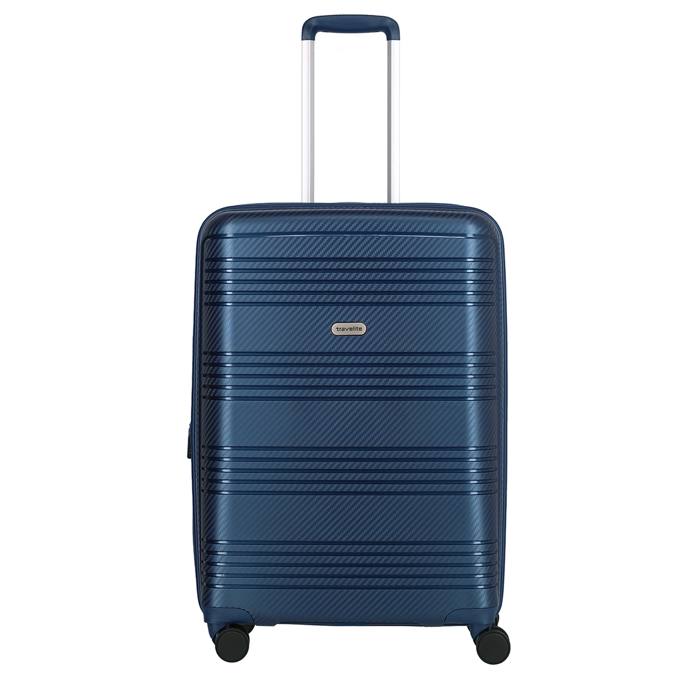 Travelite Zenit 4 Wiel Trolley M Expandable blue Harde Koffer <br/></noscript><img class=