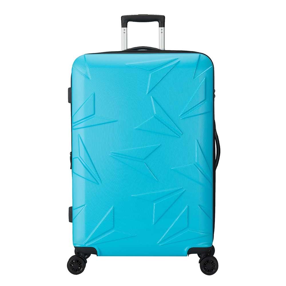 Decent Q-Luxx Trolley 77 blue Harde Koffer