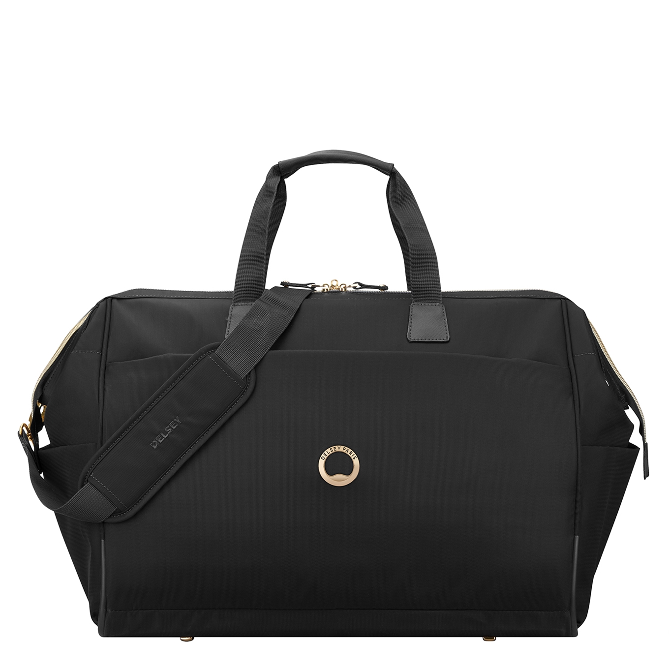 Delsey Montrouge Cabin Duffle Bag black Weekendtas <br/>€ 71.95 <br/> <a href='https://tc.tradetracker.net/?c=15082&m=779702&a=107398&u=http%3A%2F%2Fwww.travelbags.nl%3A80%2Fdelsey-montrouge-cabin-duffle-bag-black.html' target='_blank'>Bestellen</a>