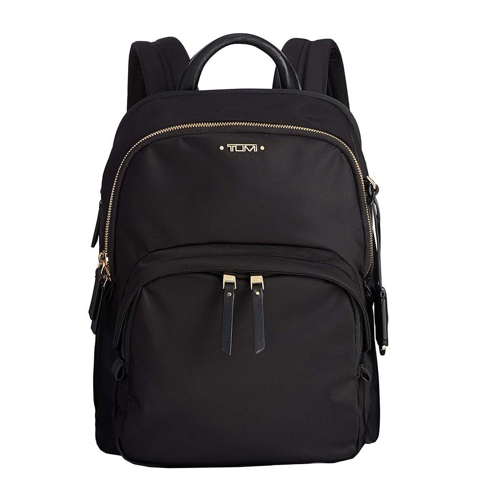 Tumi Voyageur Dori Backpack black backpack <br/>€ 295.00 <br/> <a href='https://tc.tradetracker.net/?c=15082&m=779702&a=107398&u=https%3A%2F%2Fwww.travelbags.nl%2Ftumi-voyageur-dori-backpack-black.html' target='_blank'>Bestellen</a>