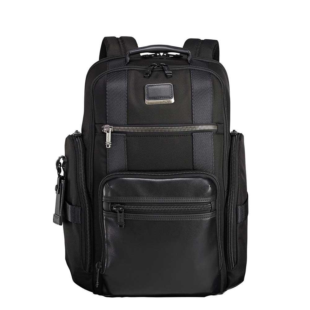 Tumi Alpha Bravo Sheppard Deluxe Brief Pack black backpack <br/>€ 427.50 <br/> <a href='https://tc.tradetracker.net/?c=15082&m=779702&a=107398&u=https%3A%2F%2Fwww.travelbags.nl%2Ftumi-alpha-bravo-sheppard-deluxe-brief-pack-black.html' target='_blank'>Bestellen</a>