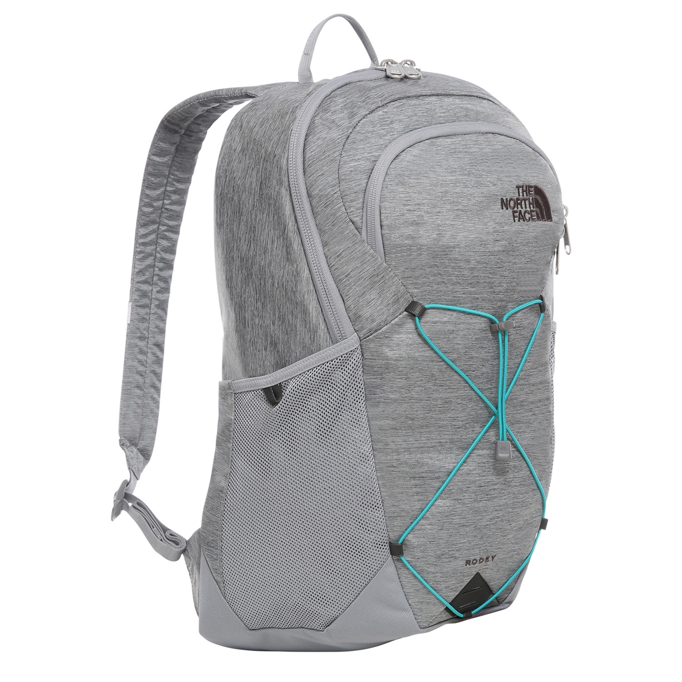 The North Face Rodey Backpack mid grey dark heather / fanfare green backpack