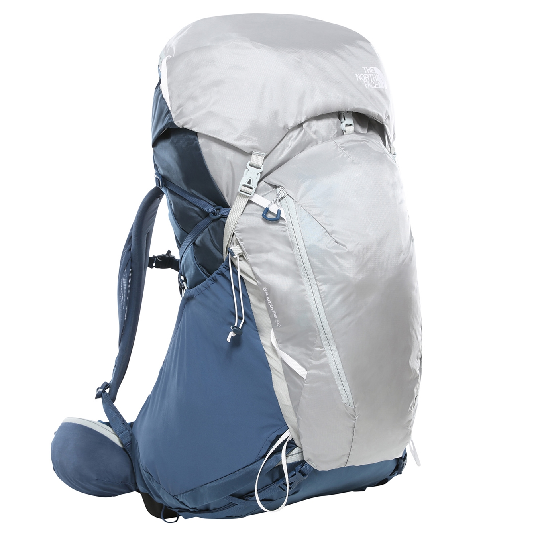 The North Face Womens Banchee 50 Backpak XS/S shady blue / high rise grey backpa <br/>€ 219.95 <br/> <a href='https://tc.tradetracker.net/?c=15082&m=779702&a=107398&u=http%3A%2F%2Fwww.travelbags.nl%3A80%2Fthe-north-face-womens-banchee-50-backpak-xs-s-shady-blue-high-rise-grey.html' target='_blank'>Bestellen</a>