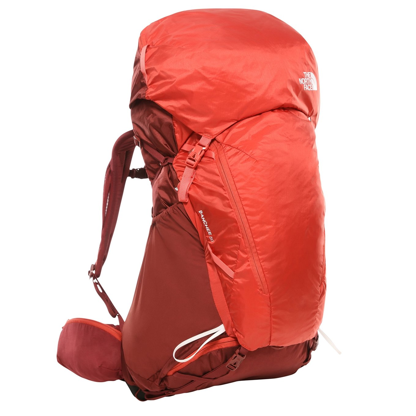 The North Face Womens Banchee 50 Backpak M/L barolo red / sunbaked red backpack <br/></noscript><img class=