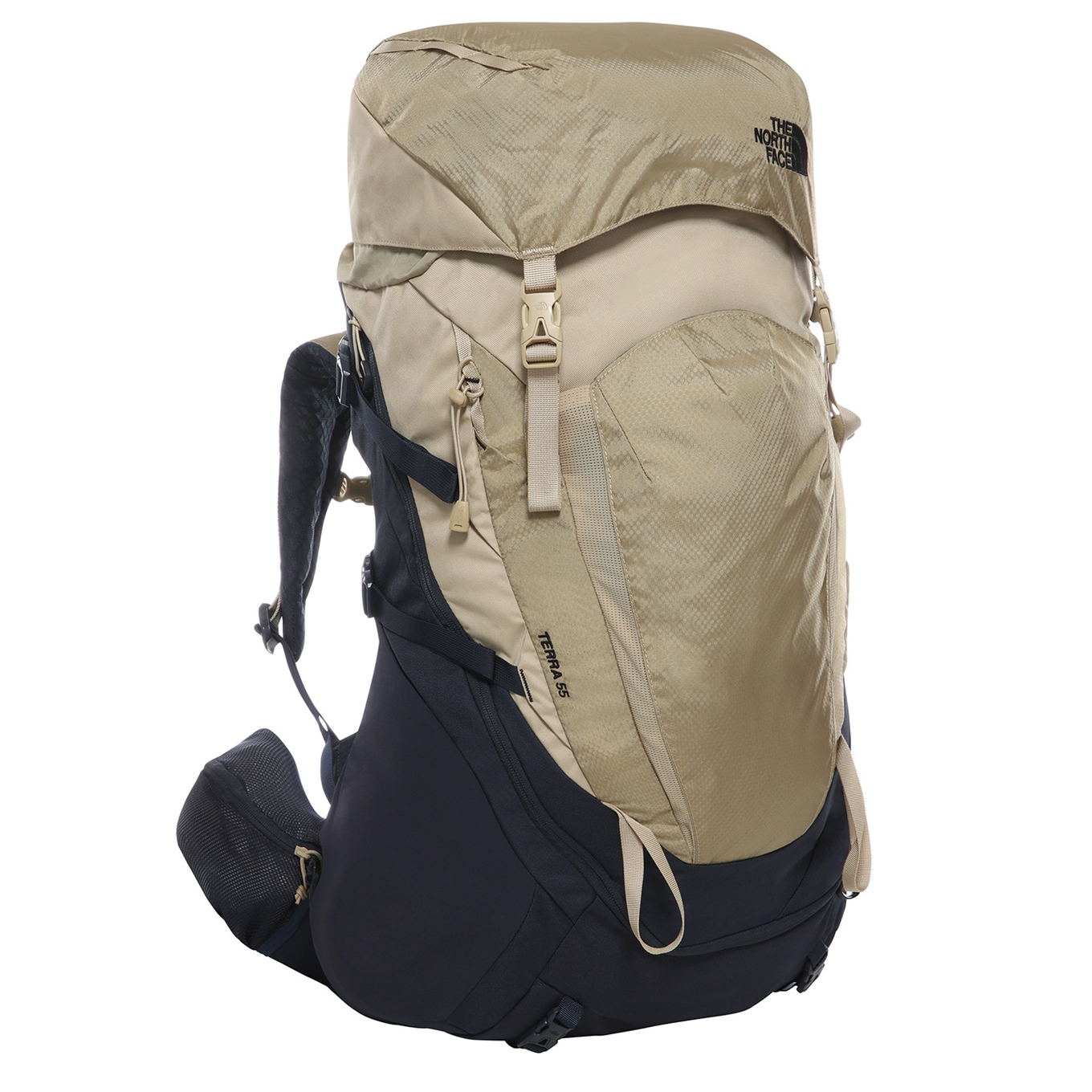 The North Face Terra 55 Women's Backpack XS/S urban navy / twill beige back