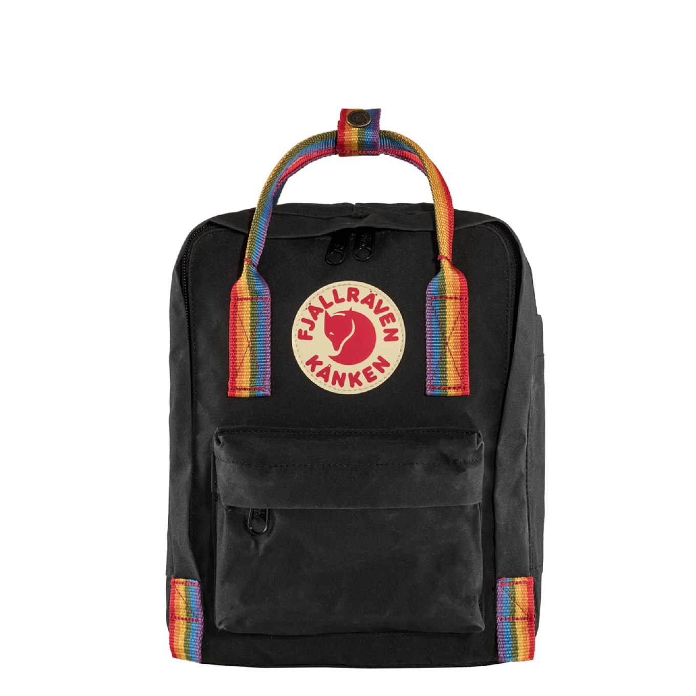 Fjallraven Kanken Rainbow Mini Rugzak black rainbow